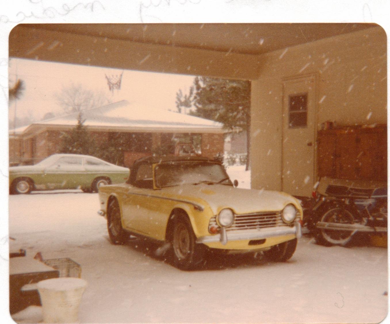 triumph car yellow